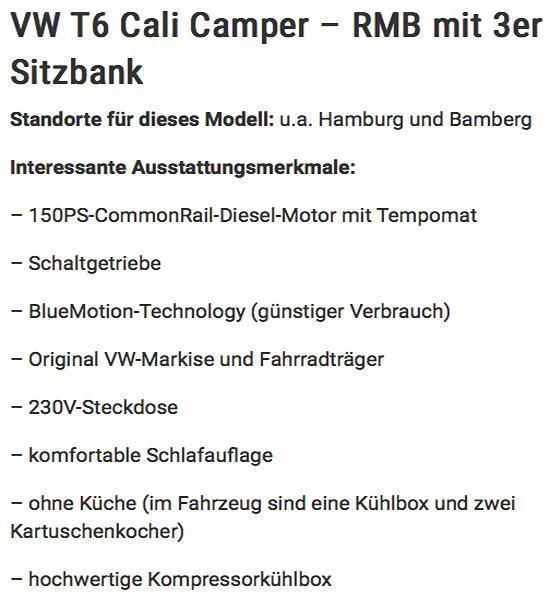 California günstig mieten in  Österreich
