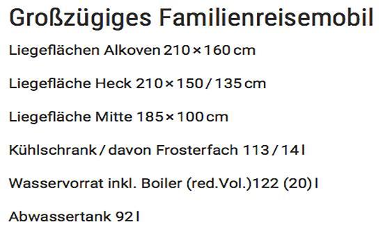 Familienreisemobil für  Thüringen