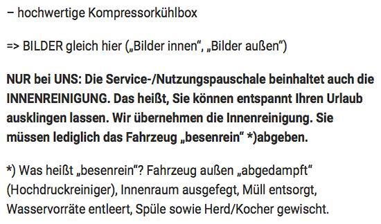 Wohnmobil Verleihung für  Österreich