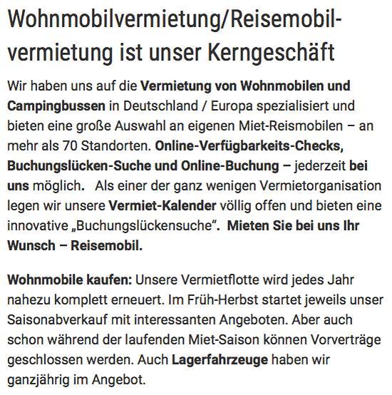 Wohnmobile günstig mieten für 30159 Hannover, Isernhagen, Garbsen, Pattensen, Hemmingen, Laatzen, Ronnenberg oder Langenhagen, Seelze, Gehrden