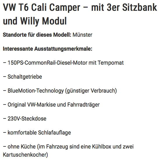Wohnmobile mieten in Deutschland in  Sachsen